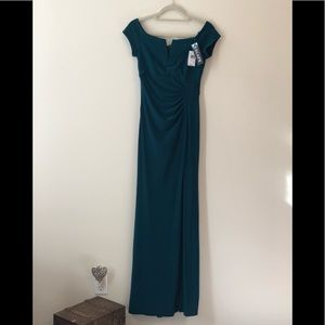 Long evening dress, simple but slimming, classy